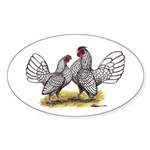 Silver Sebright Bantams Oval Sticker