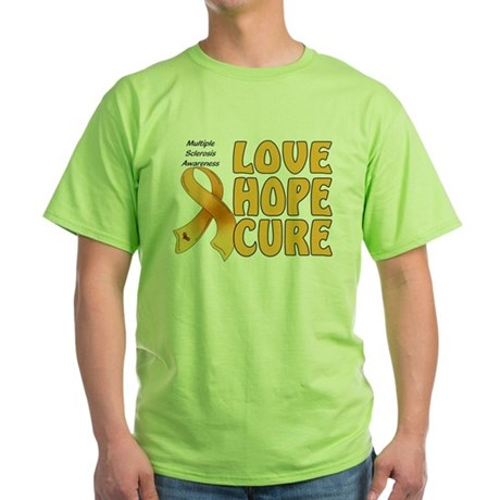 Multiple Sclerosis Awareness Green T-Shirt