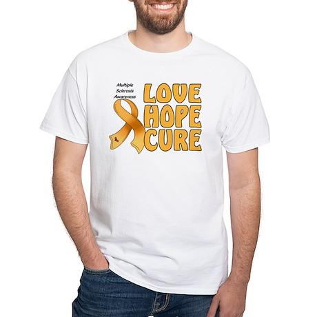 Multiple Sclerosis Awareness White T-Shirt