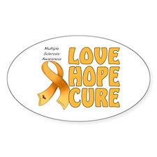 Multiple Sclerosis Awareness Oval Sticker (10 pk)