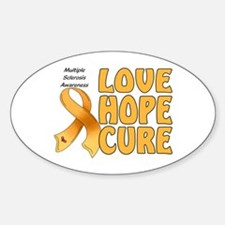 Multiple Sclerosis Awareness Oval Decal