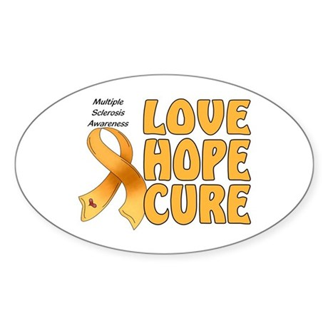 Multiple Sclerosis Awareness Oval Sticker