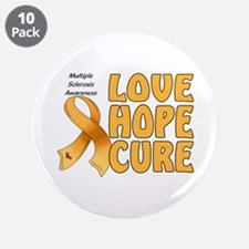 """Multiple Sclerosis Awareness 3.5"""" Button (10 pack)"""