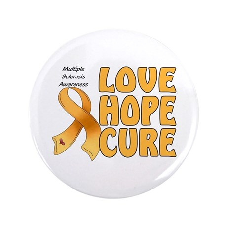 """Multiple Sclerosis Awareness 3.5"""" Button"""