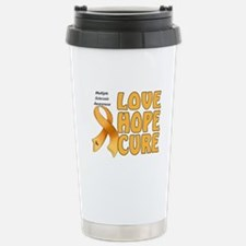 Multiple Sclerosis Awareness Stainless Steel Trave