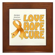 Multiple Sclerosis Awareness Framed Tile