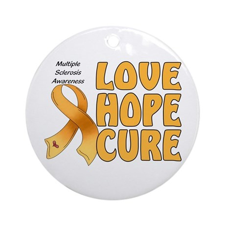 Multiple Sclerosis Awareness Ornament (Round)