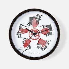 Five Animal Hands Wall Clock