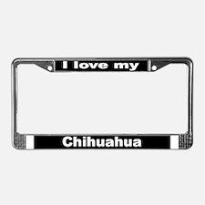 """Chihuahua"" License Plate Frame"