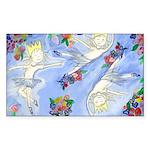 Dancing Princess Sticker (Rectangle)