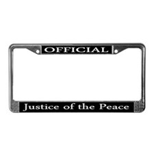 Justice of the Peace License Plate Frame