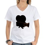 vintage video Women's V-Neck T-Shirt