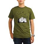 the birds Organic Men's T-Shirt (dark)