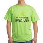 Wake Me When Summers Over Green T-Shirt