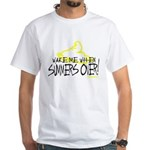 Wake Me When Summers Over White T-Shirt