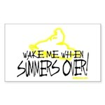 Wake Me When Summers Over Sticker (Rectangle)