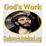God's Work Tile Coaster