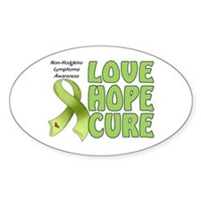 Non-Hodgkins Lymphoma Oval Sticker (10 pk)