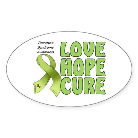 Tourette's Awareness Oval Sticker (10 pk)