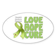 Tourette's Awareness Oval Sticker (10 pk)