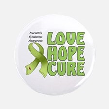 "Tourette's Awareness 3.5"" Button"