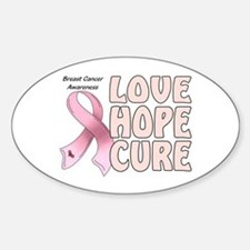 Breast Cancer Awareness Oval Decal