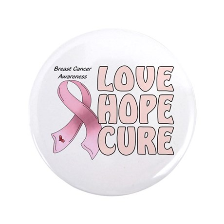 """Breast Cancer Awareness 3.5"""" Button (100 pack)"""