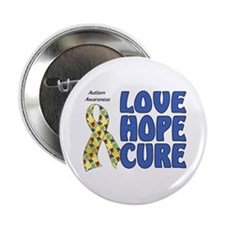 """Autism Awareness (hlc) 2.25"""" Button (100 pack)"""