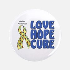"""Autism Awareness (hlc) 3.5"""" Button (100 pack)"""