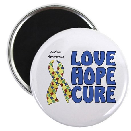 """Autism Awareness (hlc) 2.25"""" Magnet (10 pack)"""