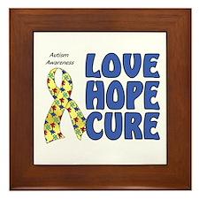 Autism Awareness (hlc) Framed Tile