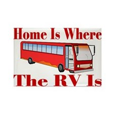 RV Home Rectangle Magnet