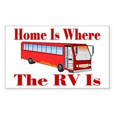 RV Home Rectangle Decal