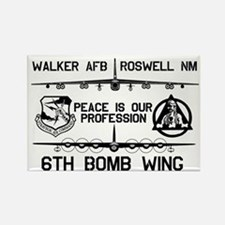 6th Bomb Wing Rectangle Magnet