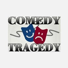 Comedy Tragedy Rectangle Magnet