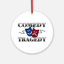 Comedy Tragedy Ornament (Round)