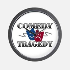 Comedy Tragedy Wall Clock