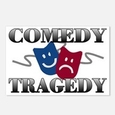 Comedy Tragedy Postcards (Package of 8)