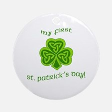 My First St Patricks Day Ornament (Round)