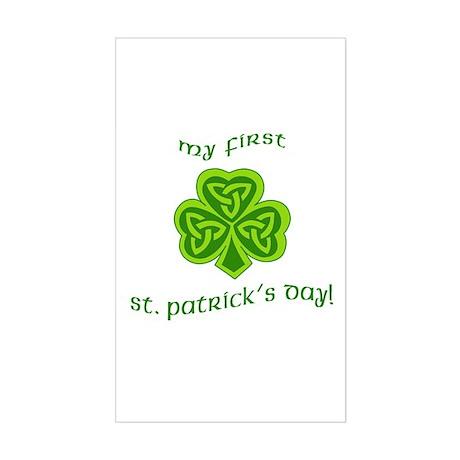 My First St Patricks Day Rectangle Sticker