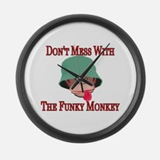 Funky Monkey Large Wall Clock