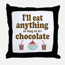Valentine Chocolate Throw Pillow