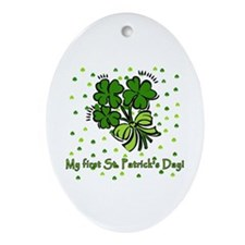 My First St Patricks Day Oval Ornament