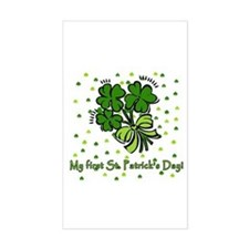 My First St Patricks Day Rectangle Decal