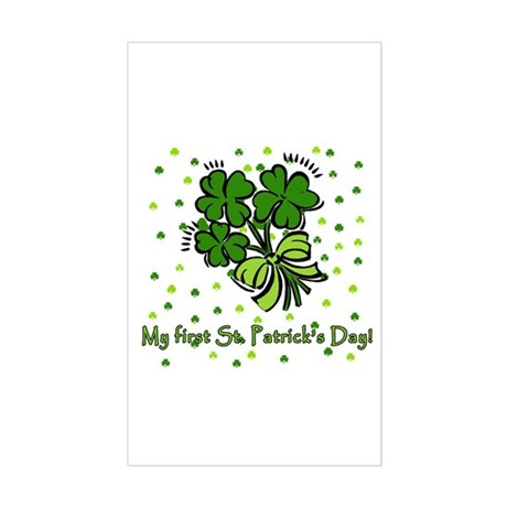 My First St Patricks Day Rectangle Sticker