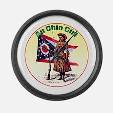 The Ohio Girl Large Wall Clock