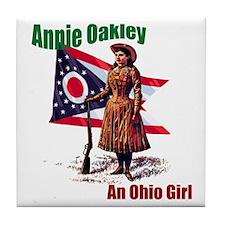 Cute Annie oakley Tile Coaster