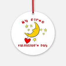 My First Valentine's Day Ornament (Round)