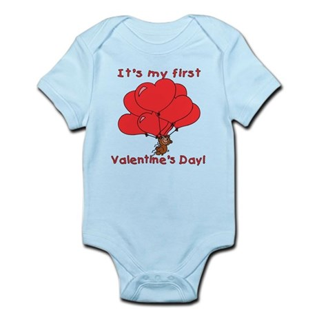 It's My First Valentines Day Infant Bodysuit