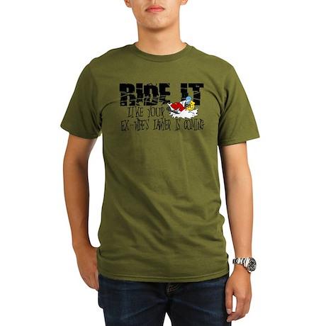 Ride it - Ex-wife Organic Men's T-Shirt (dark)
